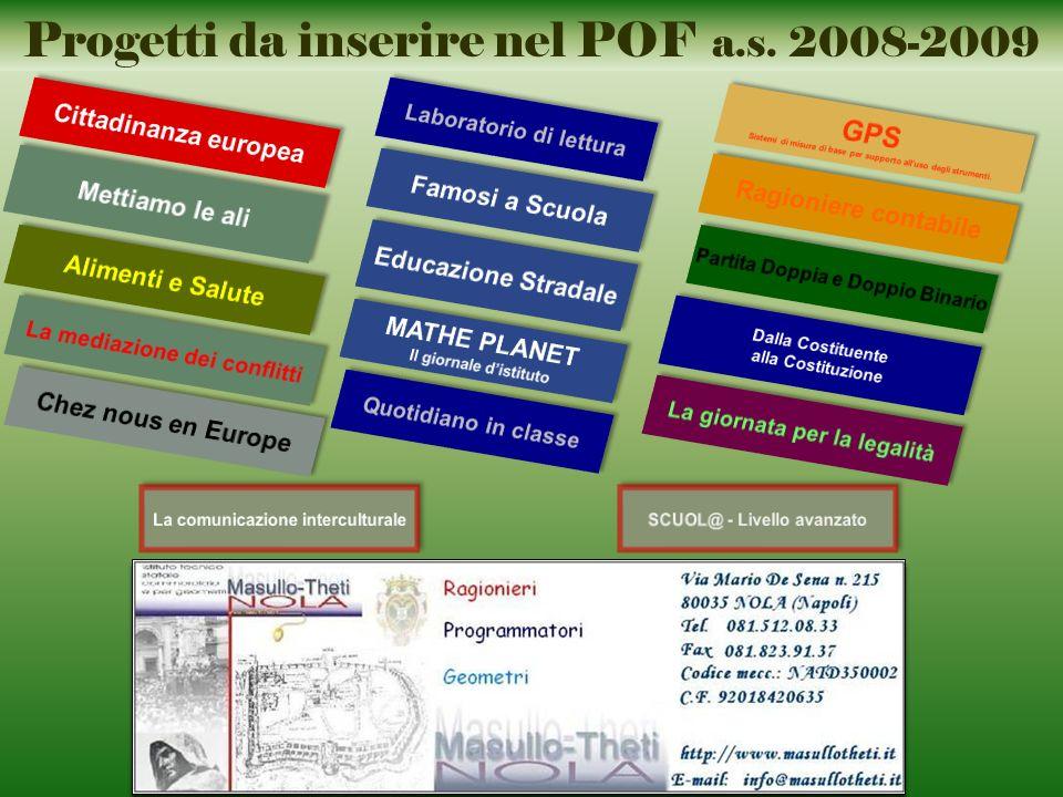 Progetti da inserire nel POF a.s. 2008-2009