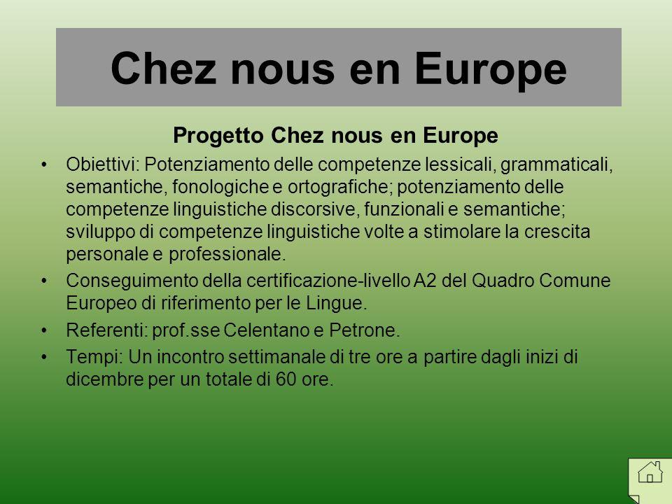 Progetto Chez nous en Europe