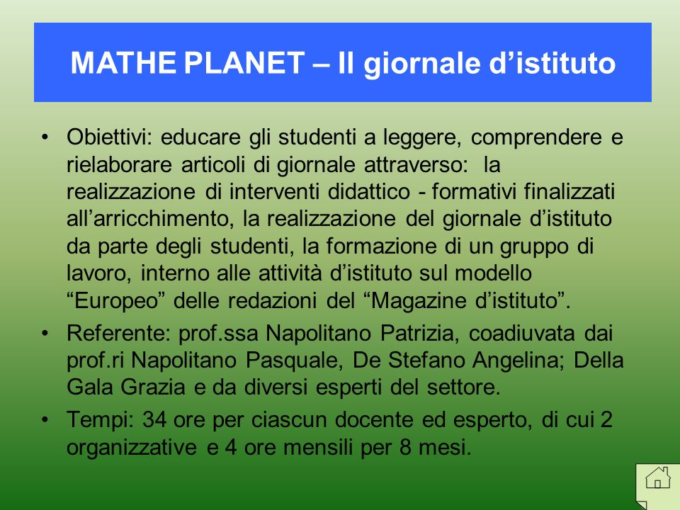 MATHE PLANET – Il giornale d'istituto