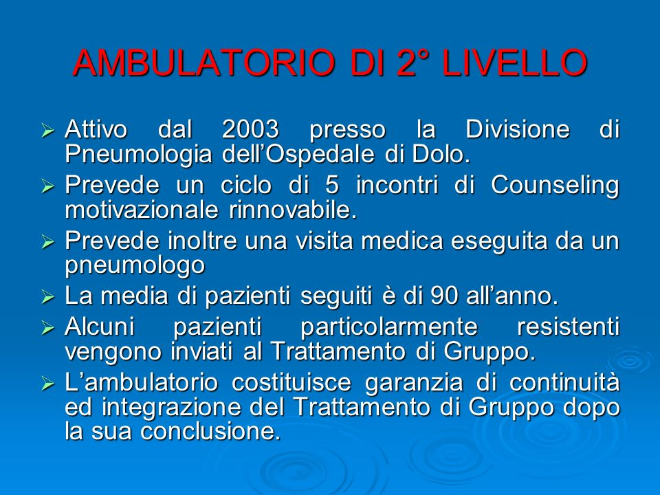 AMBULATORIO DI 2° LIVELLO