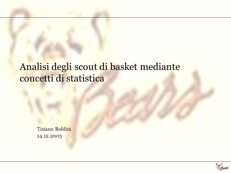 Analisi degli scout di basket mediante concetti di statistica