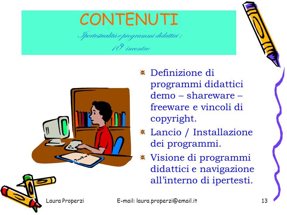 CONTENUTI Ipertestualità e programmi didattici : 10° incontro