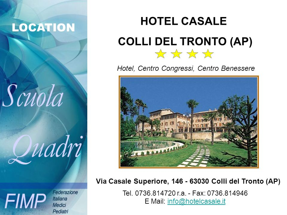 E Mail: info@hotelcasale.it