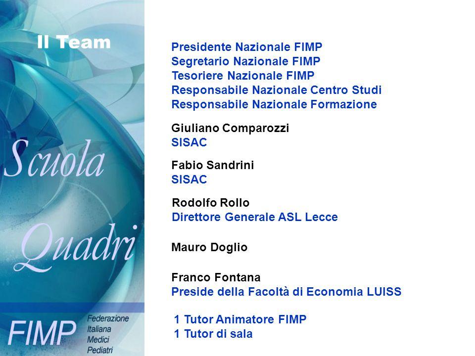Il Team Presidente Nazionale FIMP Segretario Nazionale FIMP