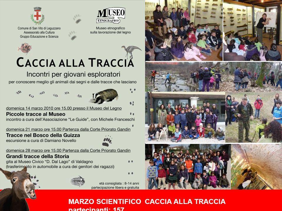 MARZO SCIENTIFICO CACCIA ALLA TRACCIA partecipanti: 157