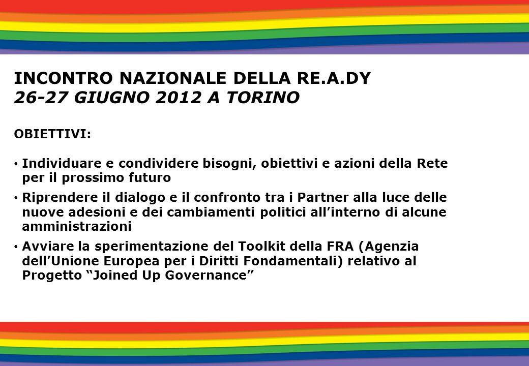 INCONTRO NAZIONALE DELLA RE.A.DY 26-27 GIUGNO 2012 A TORINO