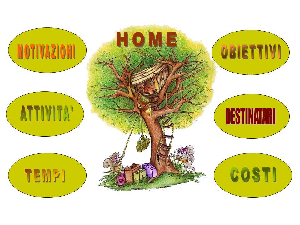 HOME MOTIVAZIONI OBIETTIVI ATTIVITA DESTINATARI COSTI TEMPI
