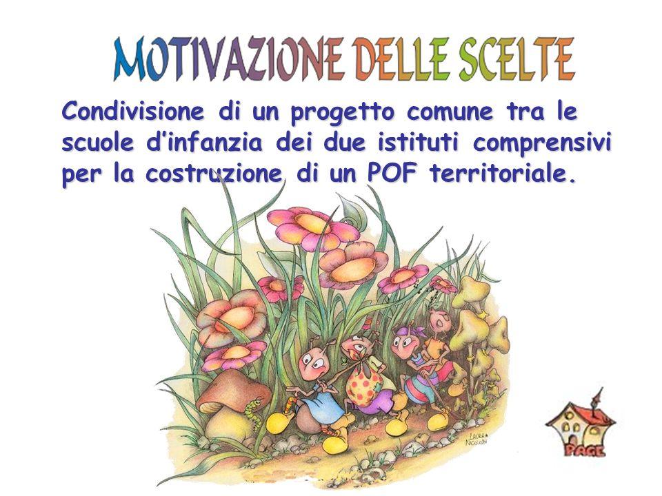 Condivisione di un progetto comune tra le scuole d'infanzia dei due istituti comprensivi per la costruzione di un POF territoriale.