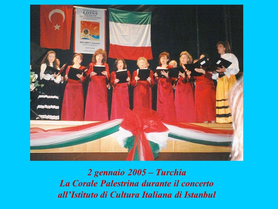 La Corale Palestrina durante il concerto