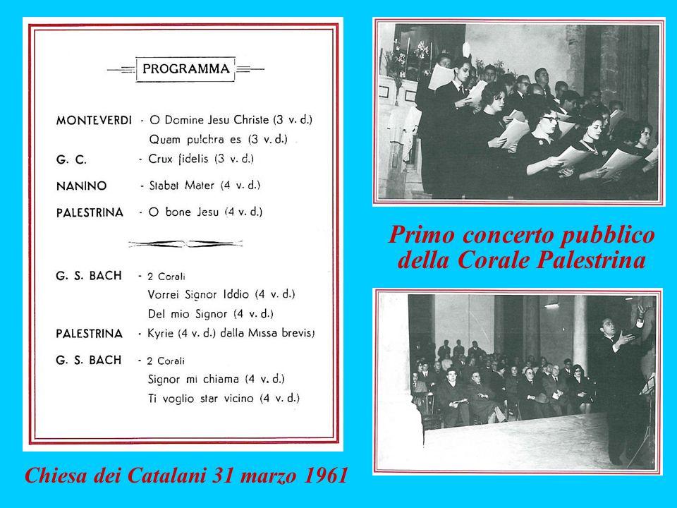 Primo concerto pubblico della Corale Palestrina