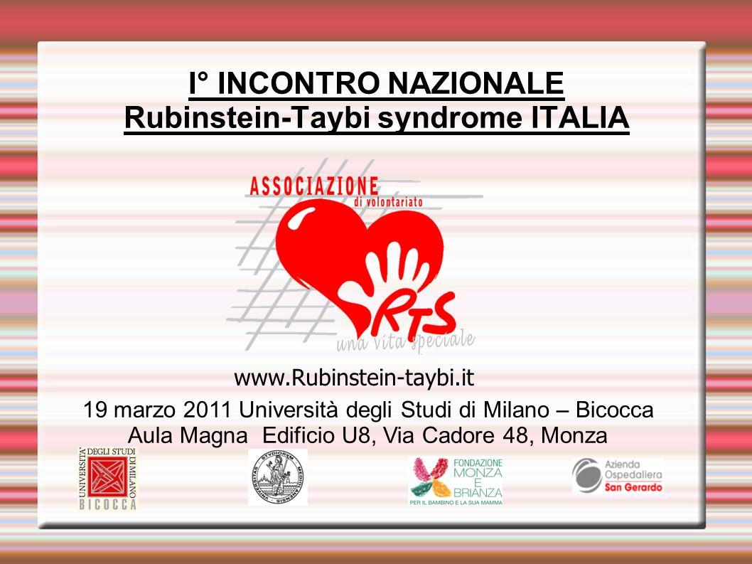 I° INCONTRO NAZIONALE Rubinstein-Taybi syndrome ITALIA