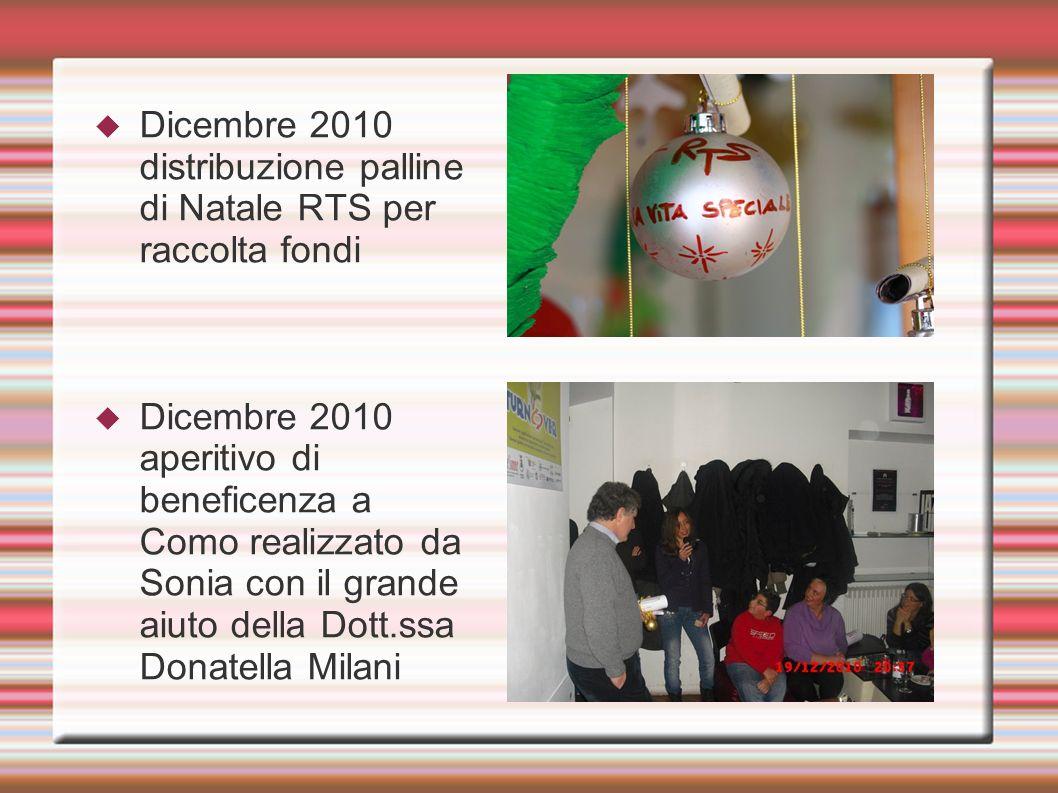 Dicembre 2010 distribuzione palline di Natale RTS per raccolta fondi