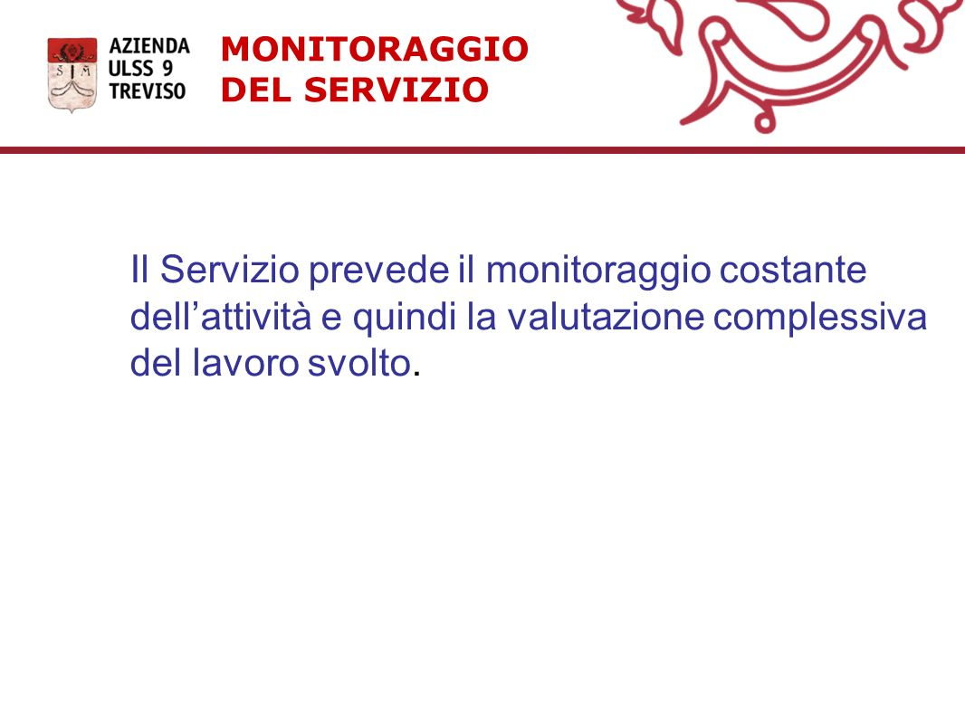 MONITORAGGIO DEL SERVIZIO