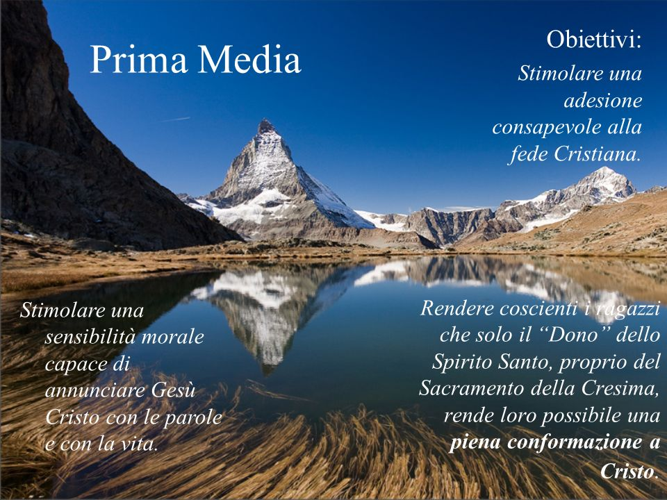 Prima Media Obiettivi: