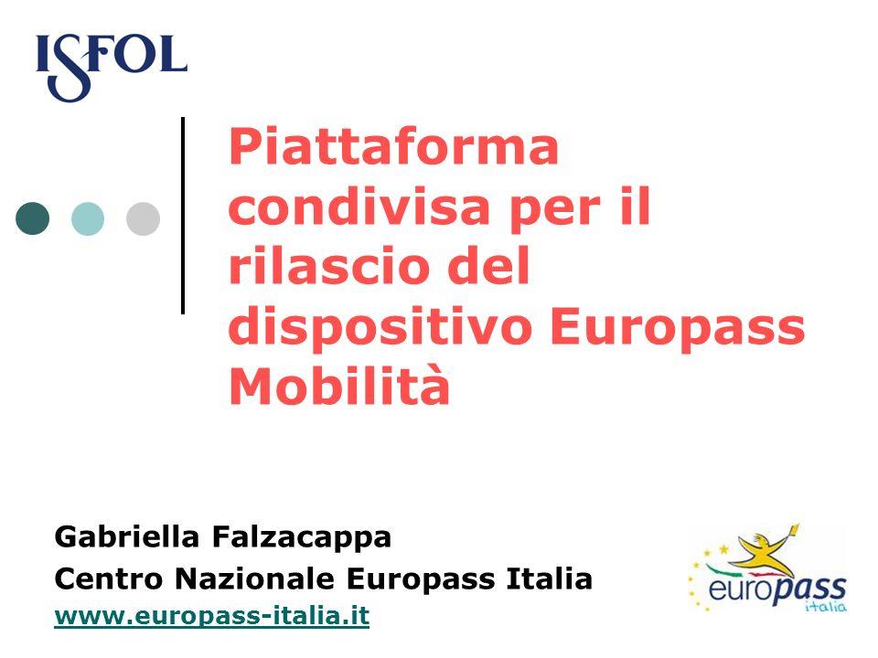 Piattaforma condivisa per il rilascio del dispositivo Europass Mobilità