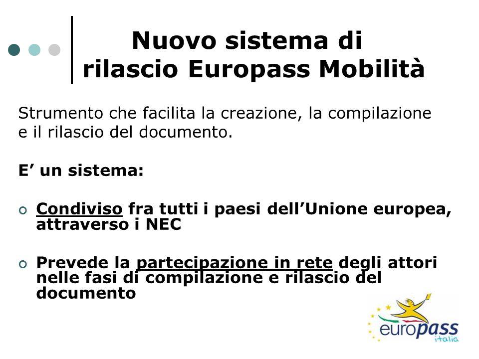 Nuovo sistema di rilascio Europass Mobilità