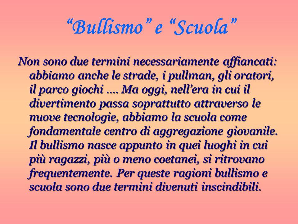 Bullismo e Scuola