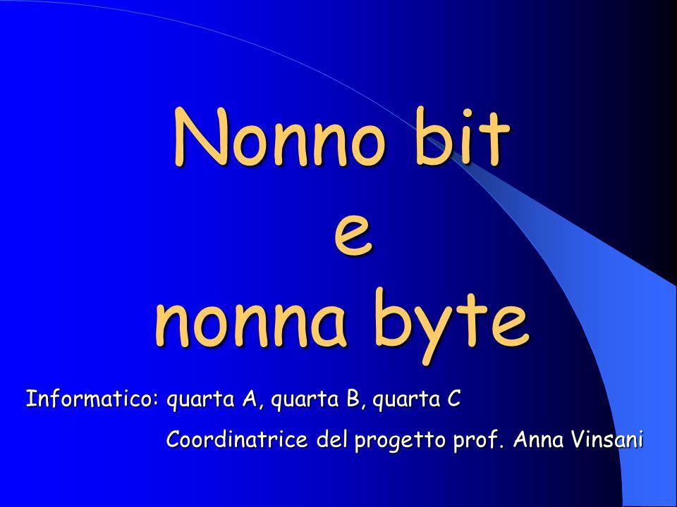 Nonno bit e nonna byte Informatico: quarta A, quarta B, quarta C