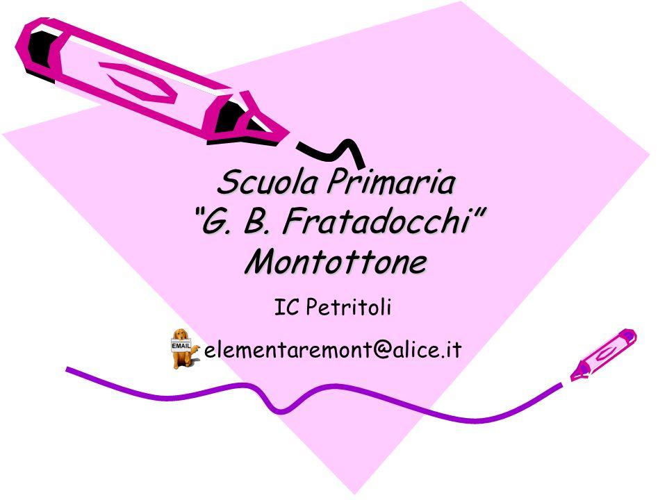 Scuola Primaria G. B. Fratadocchi Montottone