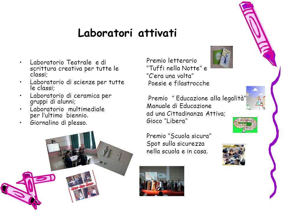 Laboratori attivati Premio letterario