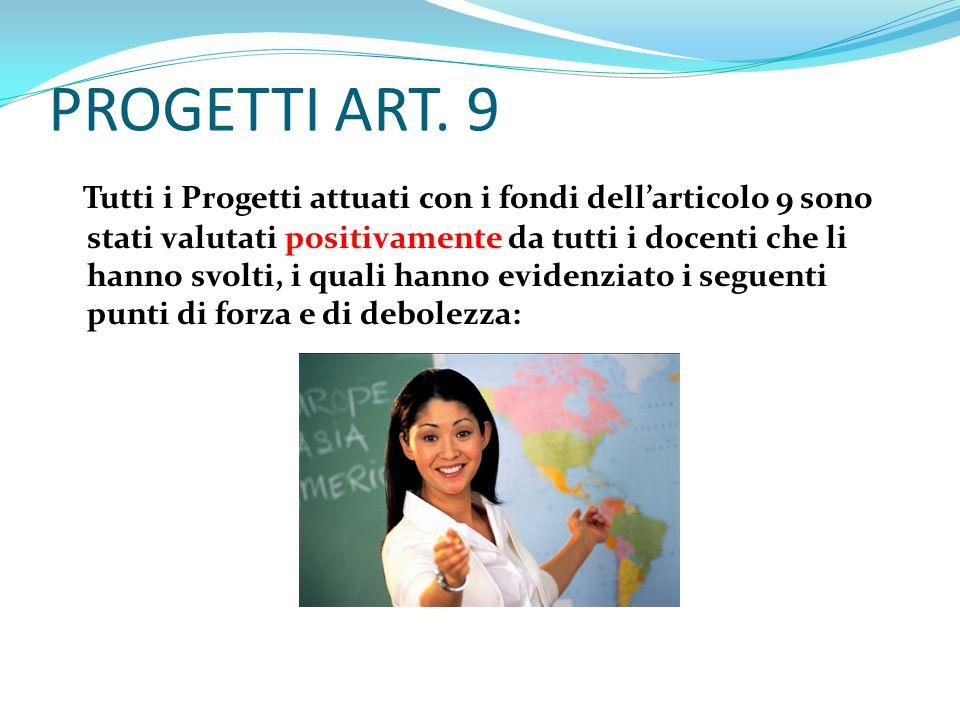 PROGETTI ART. 9