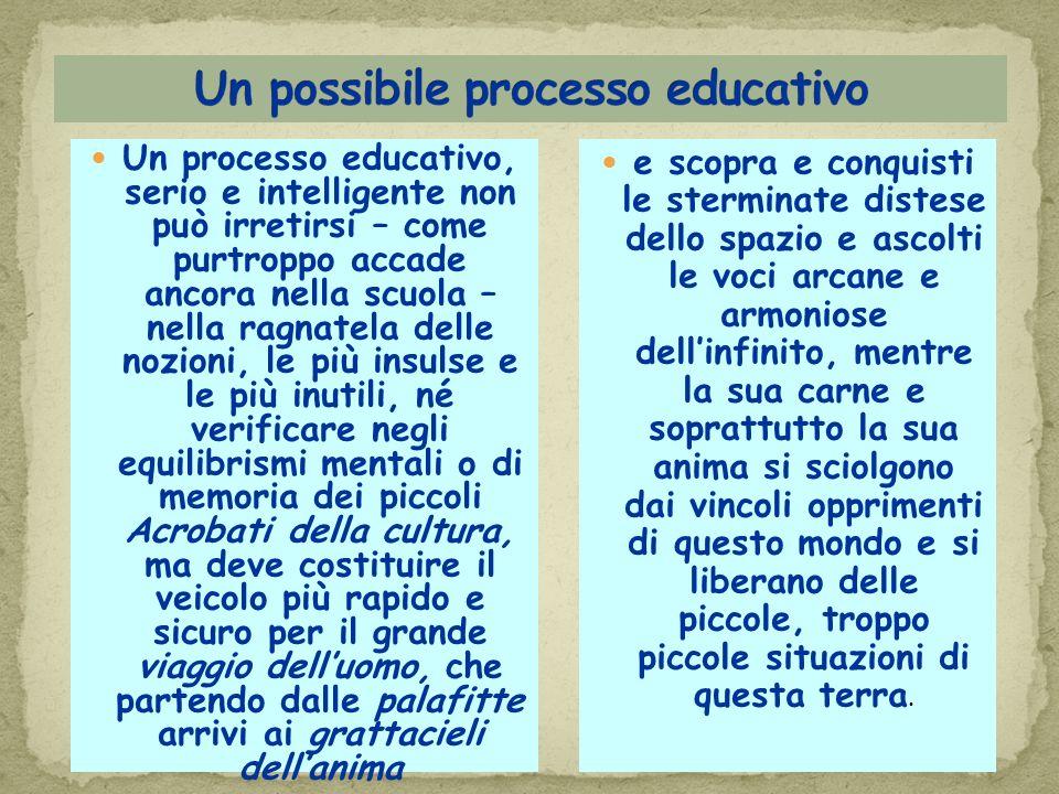 Un possibile processo educativo