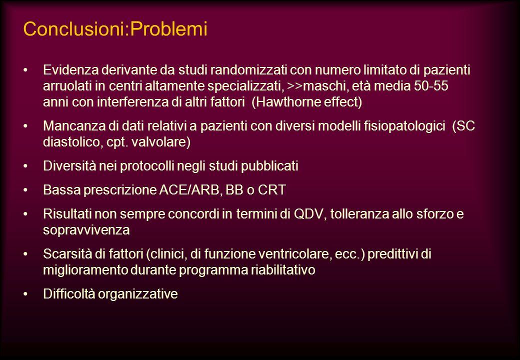 Conclusioni:Problemi