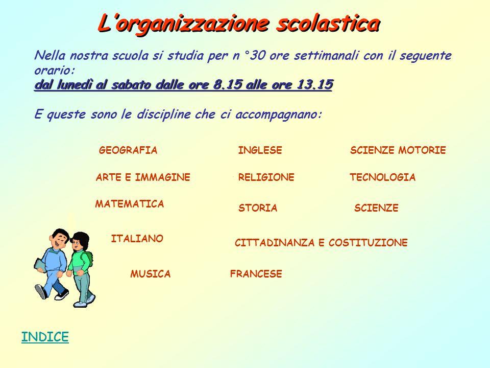L'organizzazione scolastica