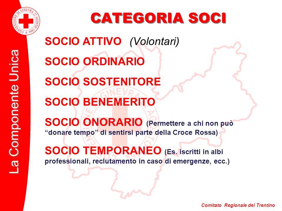 CATEGORIA SOCI SOCIO ATTIVO (Volontari) SOCIO ORDINARIO