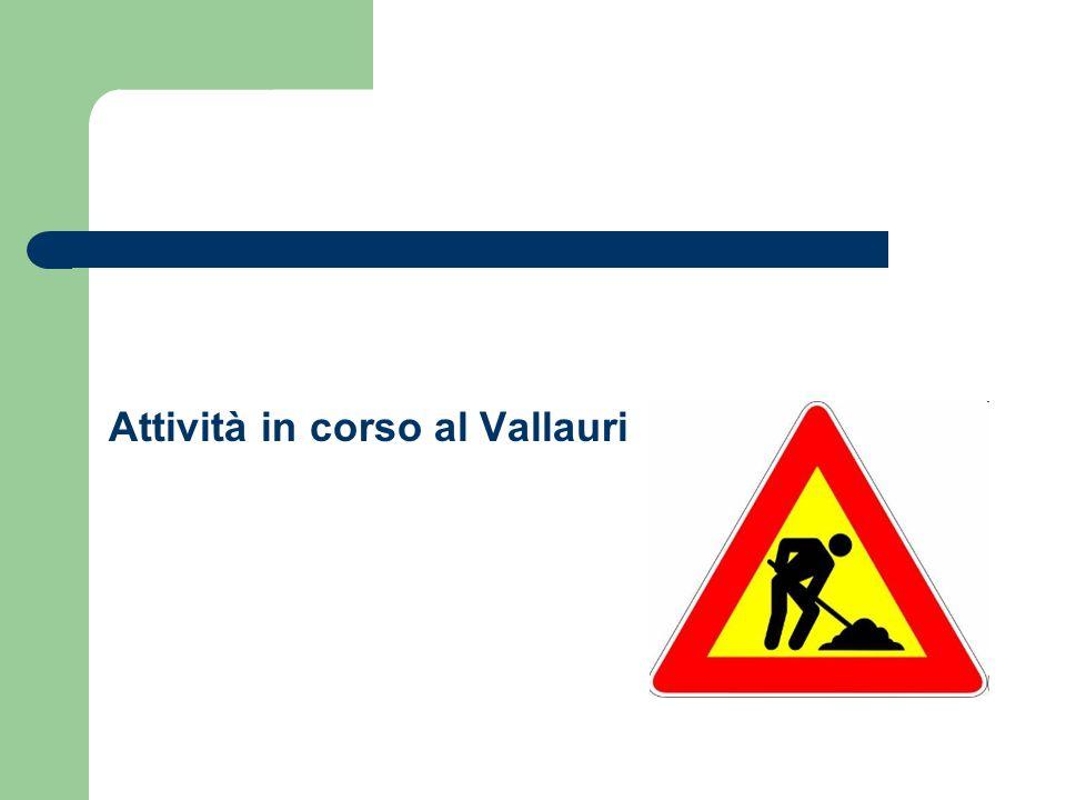 Attività in corso al Vallauri