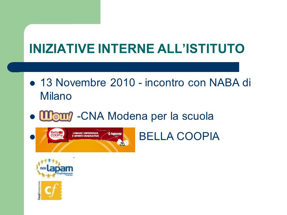 INIZIATIVE INTERNE ALL'ISTITUTO