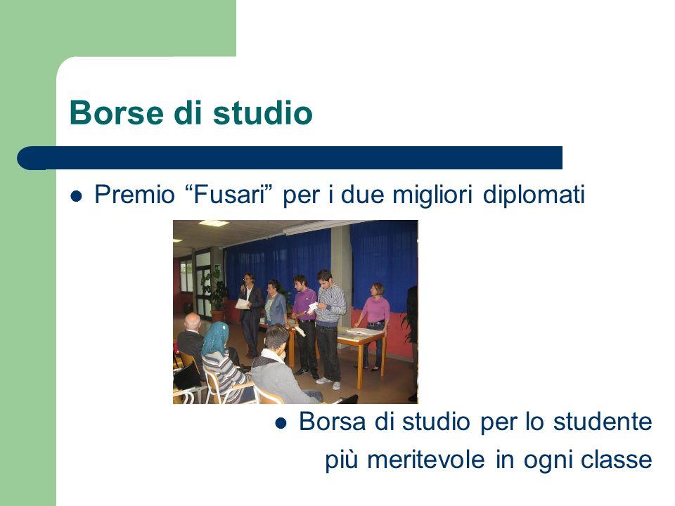 Borse di studio Premio Fusari per i due migliori diplomati