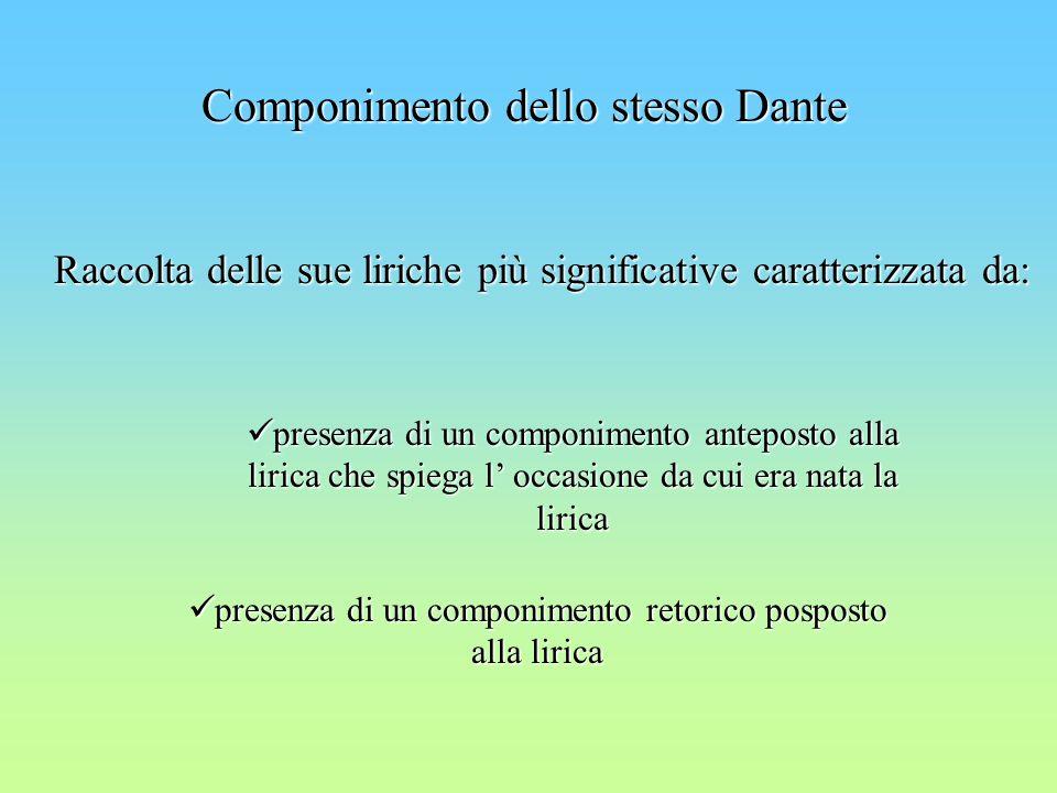 Componimento dello stesso Dante