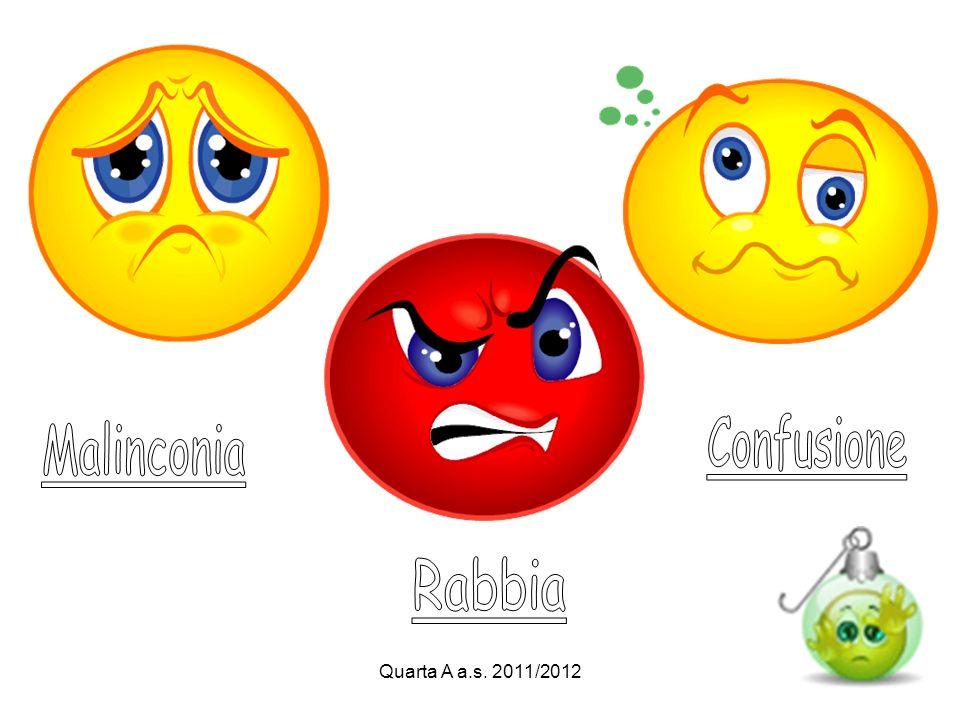 Confusione Malinconia Rabbia Quarta A a.s. 2011/2012