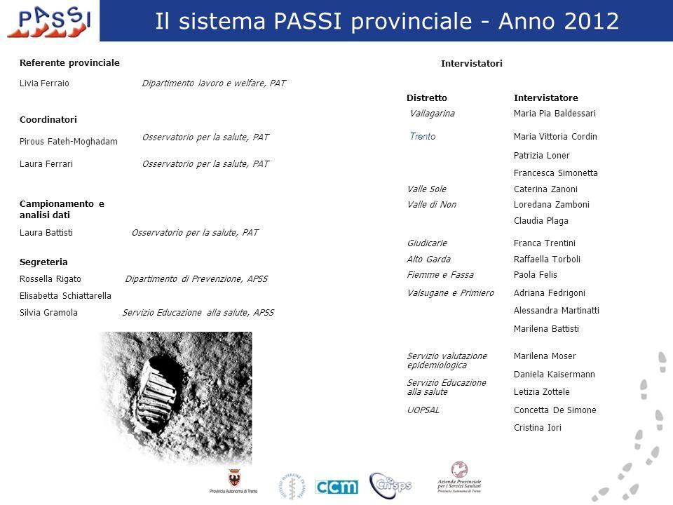 Il sistema PASSI provinciale - Anno 2012