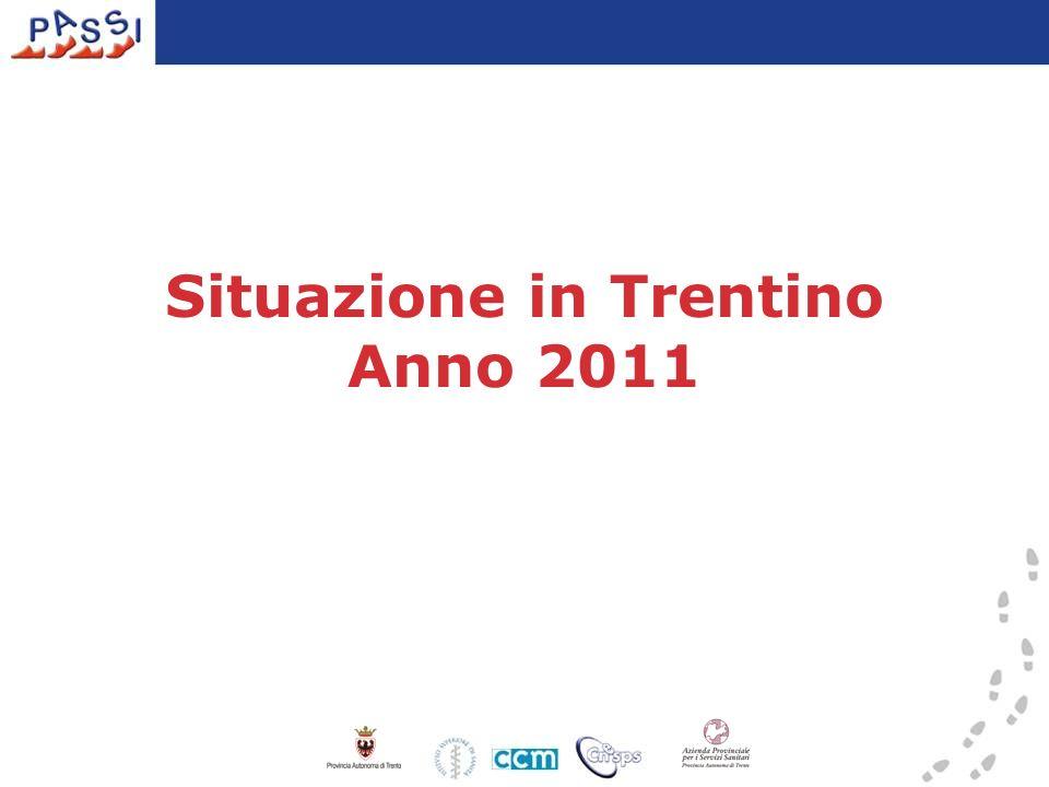 Situazione in Trentino Anno 2011