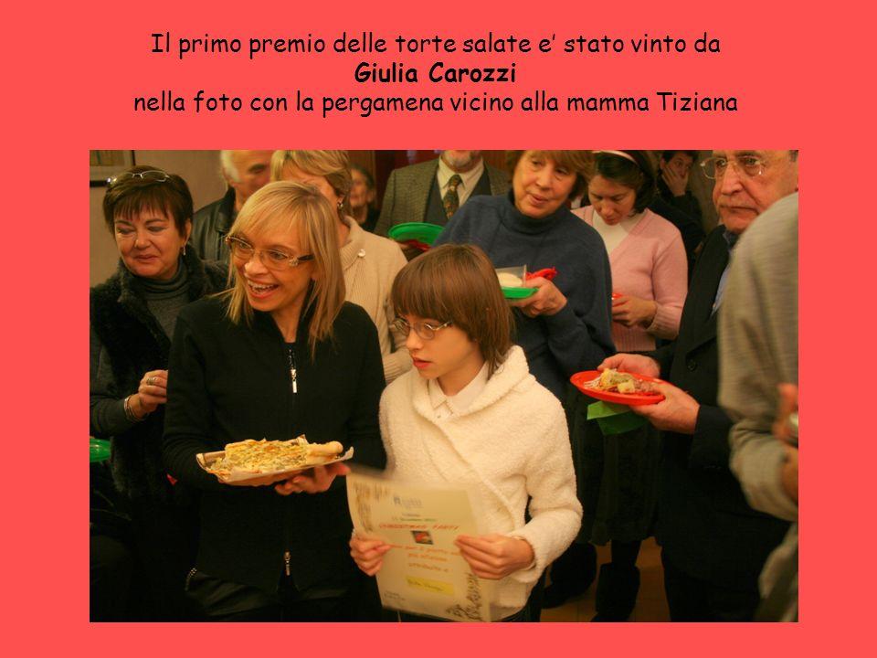 Il primo premio delle torte salate e' stato vinto da Giulia Carozzi