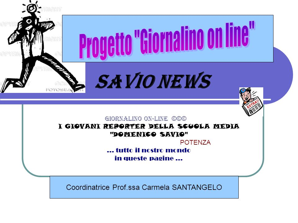 SAVIO NEWS Progetto Giornalino on line