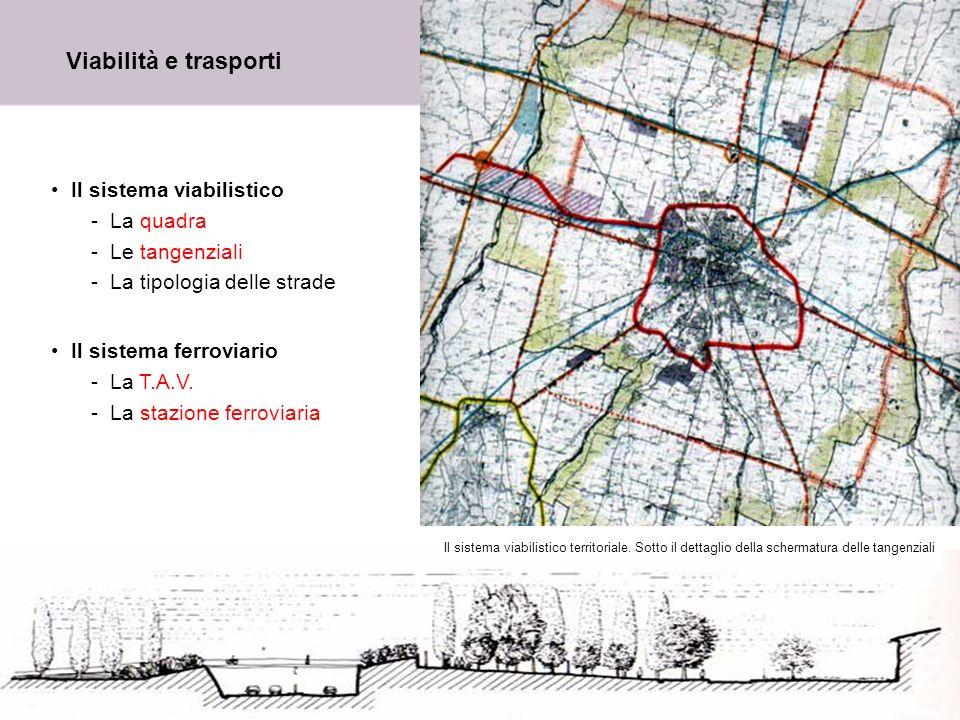 Viabilità e trasporti Il sistema viabilistico La quadra Le tangenziali