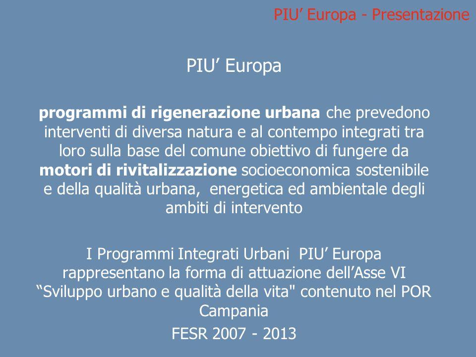 PIU' Europa - Presentazione