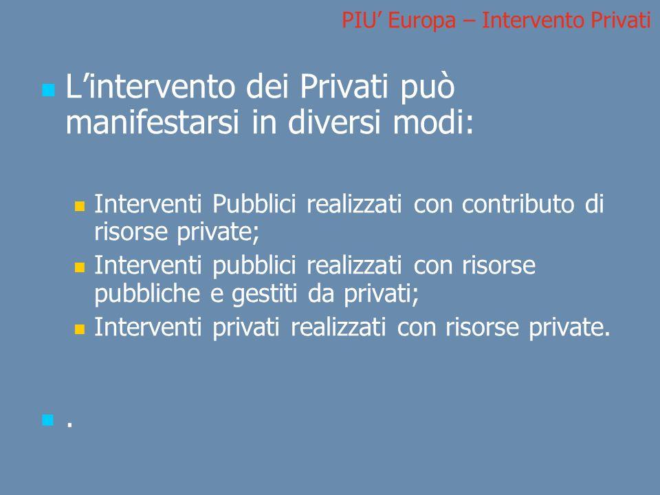 PIU' Europa – Intervento Privati
