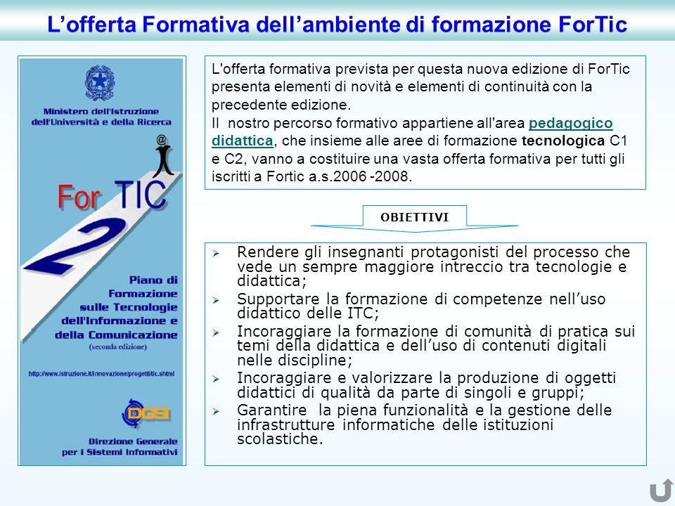 L'offerta Formativa dell'ambiente di formazione ForTic