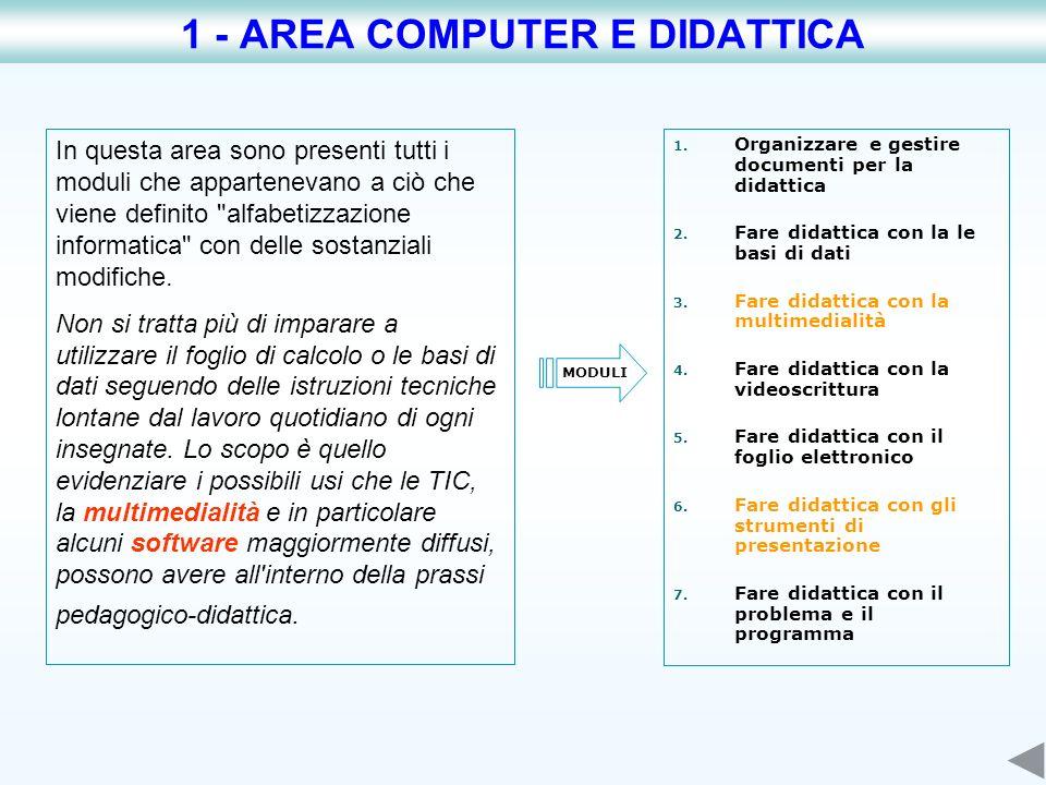 1 - AREA COMPUTER E DIDATTICA
