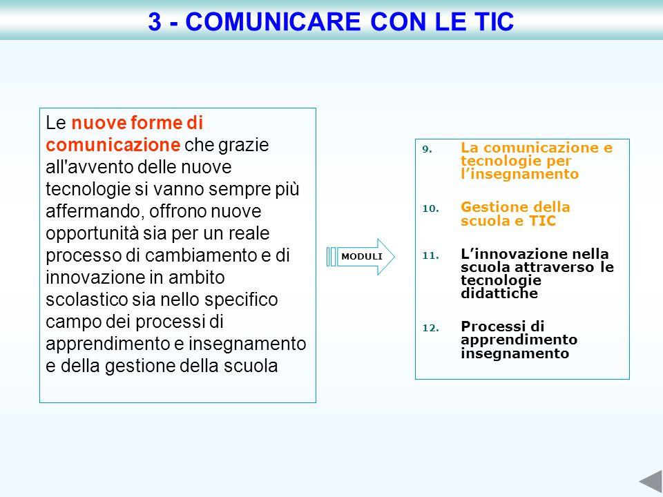 3 - COMUNICARE CON LE TIC