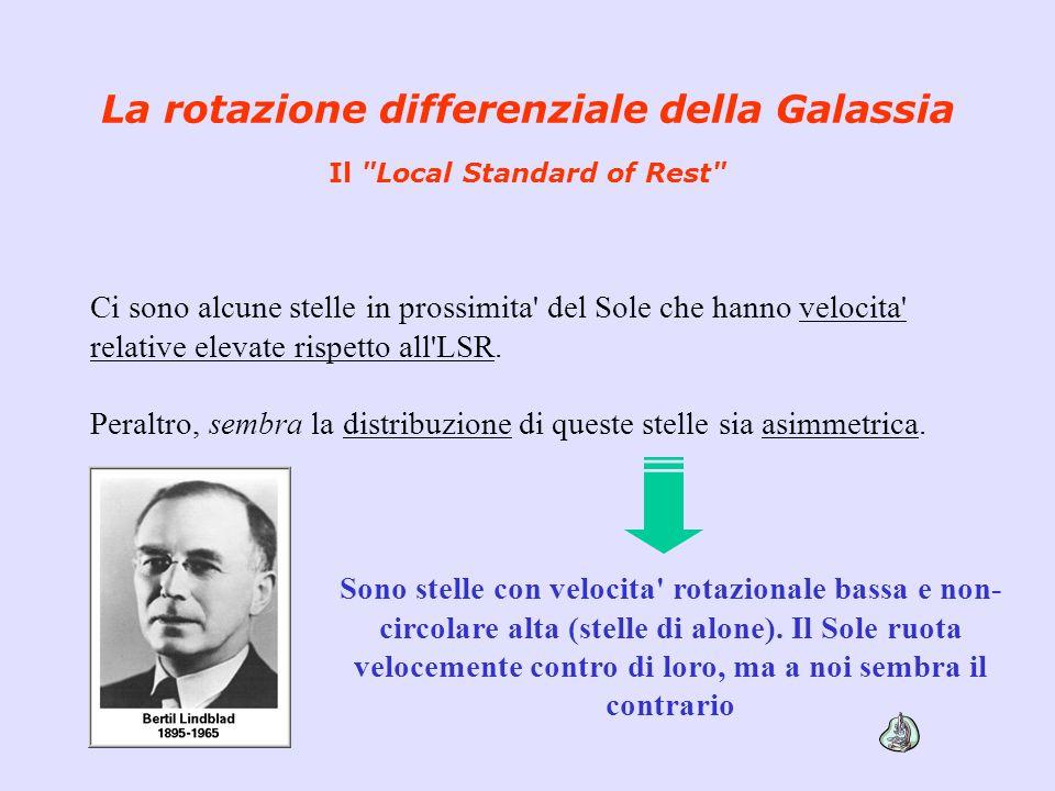 La rotazione differenziale della Galassia Il Local Standard of Rest