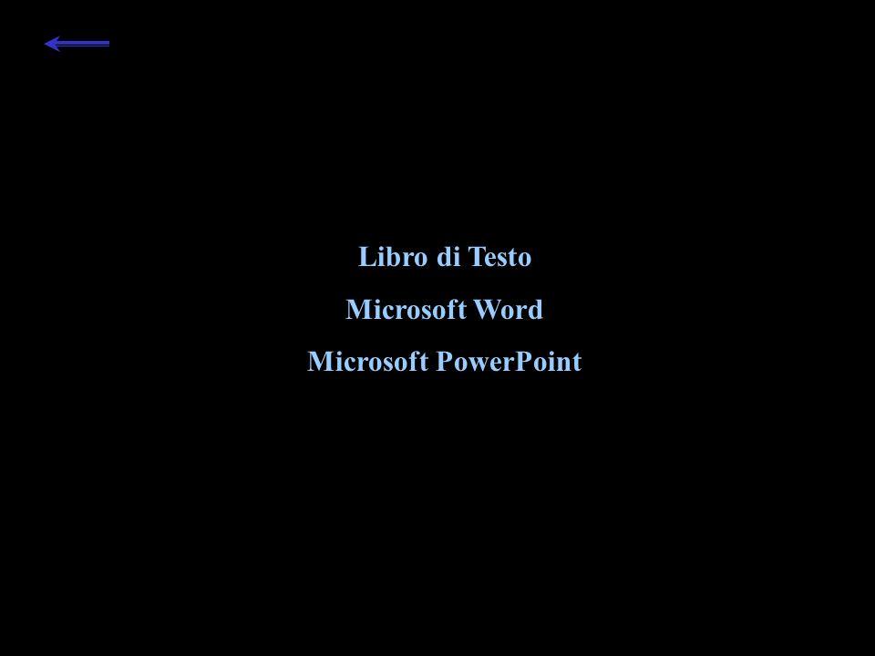 Libro di Testo Microsoft Word Microsoft PowerPoint