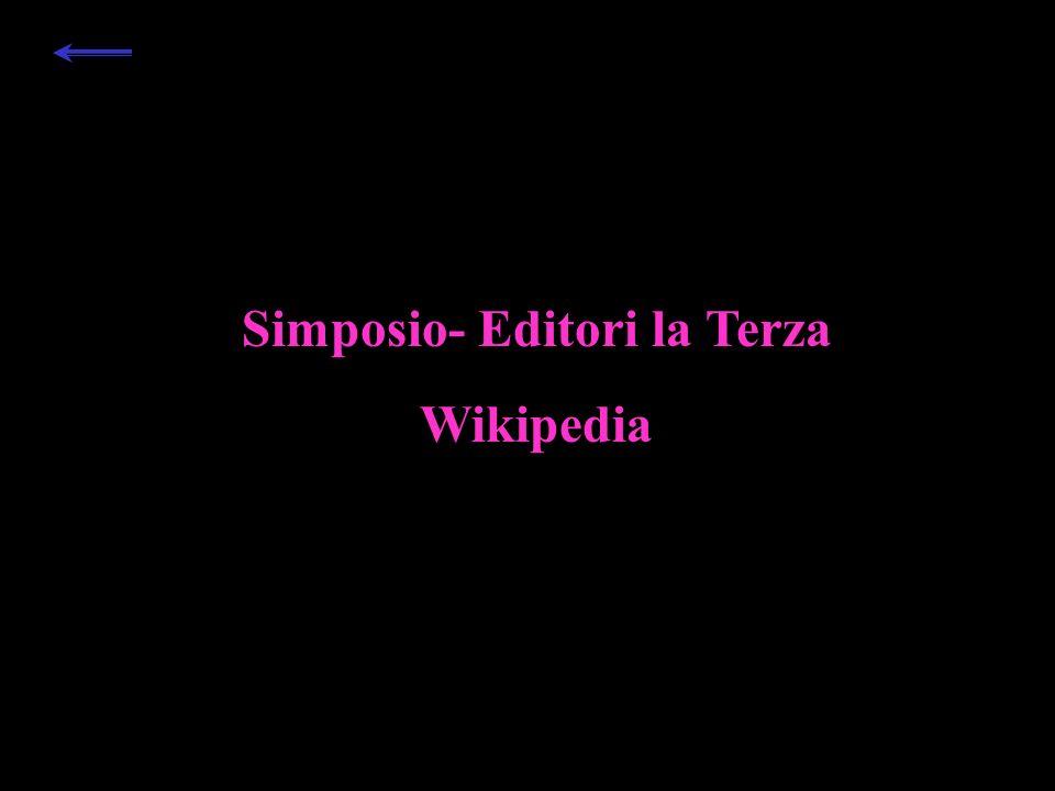 Simposio- Editori la Terza