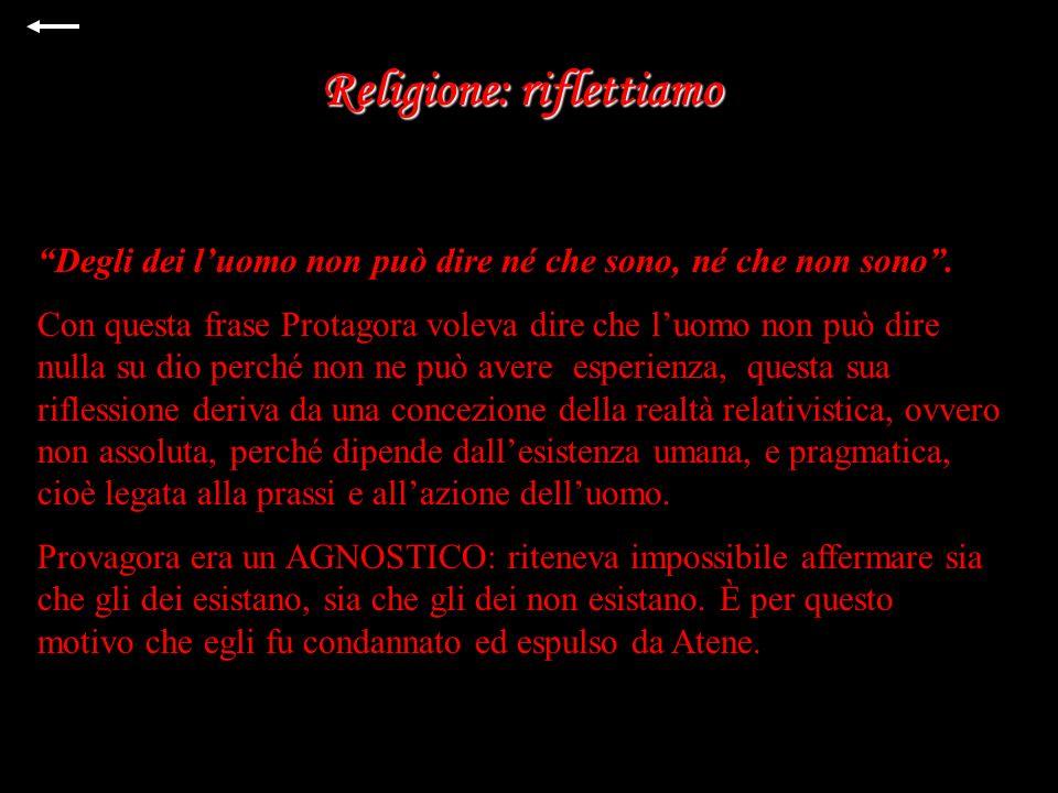 Religione: riflettiamo