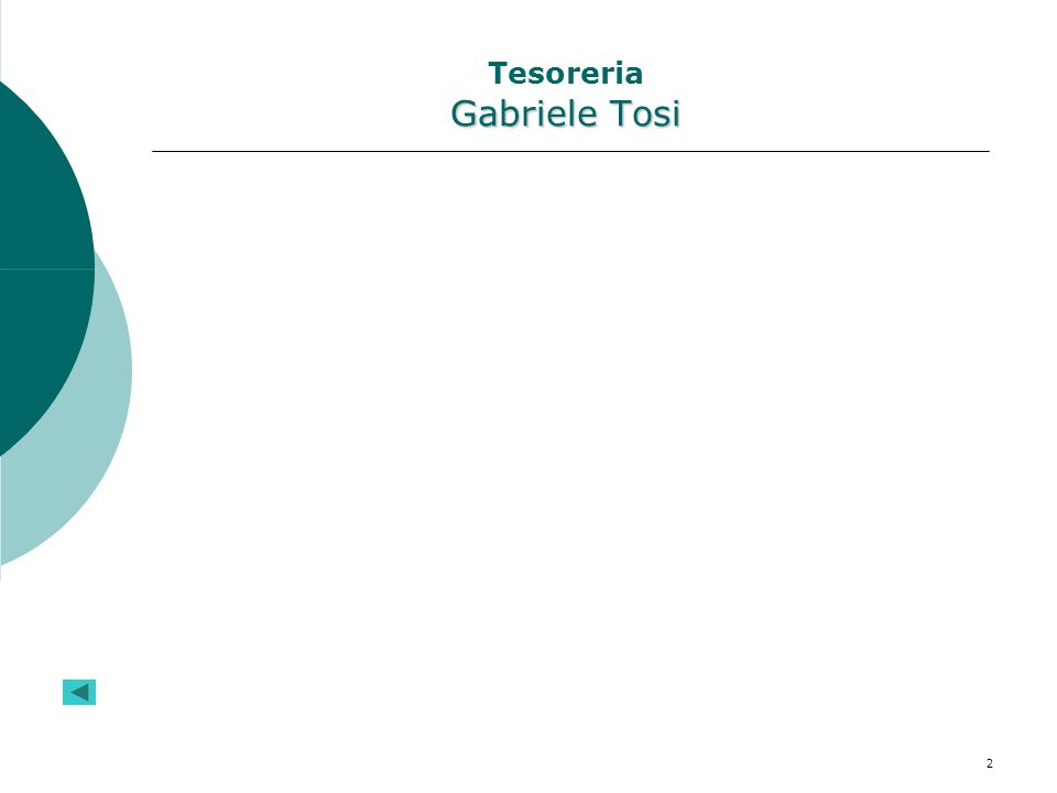 Tesoreria Gabriele Tosi