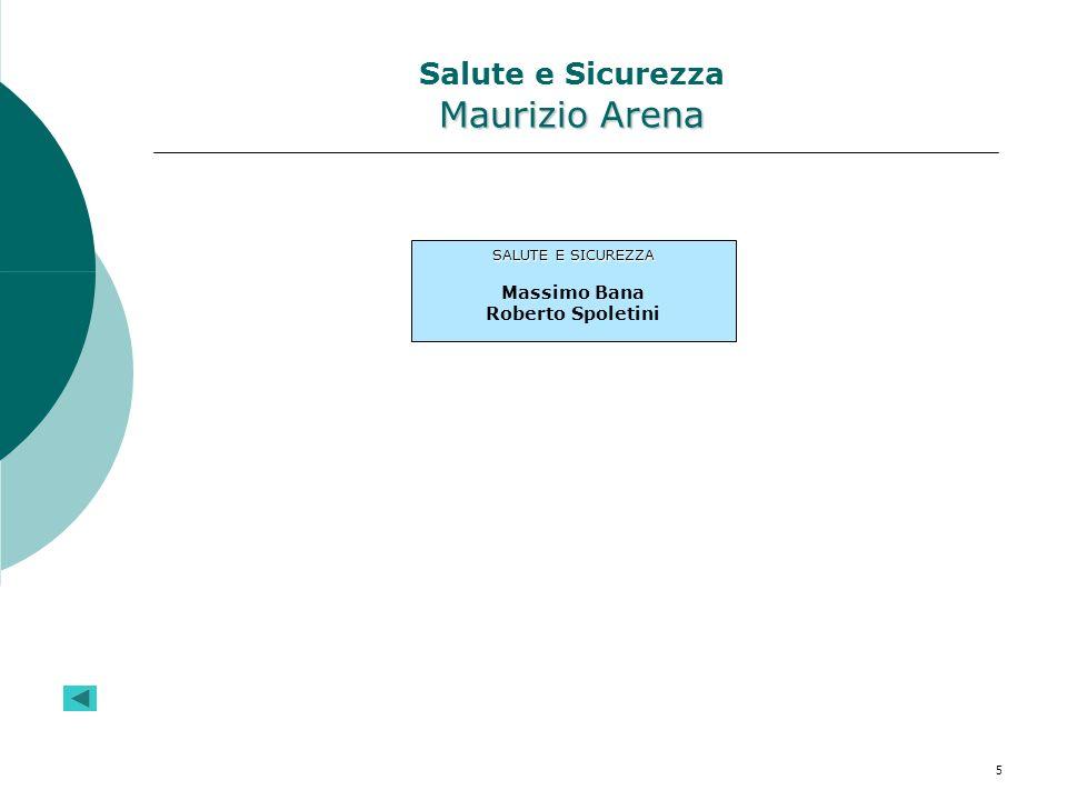 Salute e Sicurezza Maurizio Arena